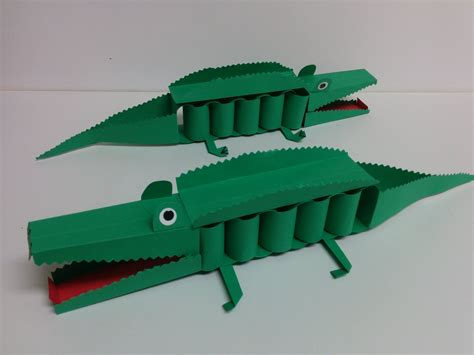 How To Make A Paper Crocodile - and craft how to make 3d paper crocodile