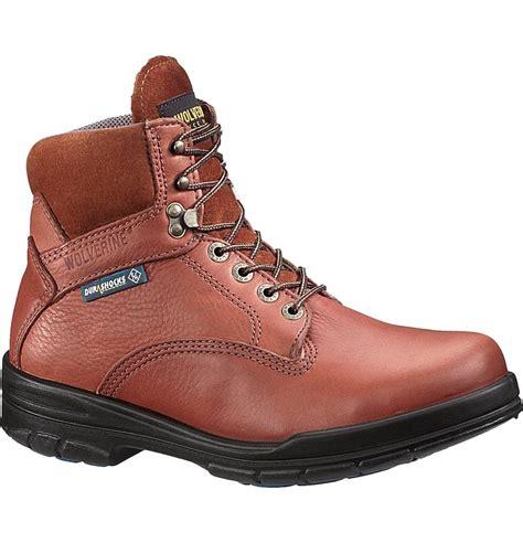 wolverine durashock boots wolverine durashock 6 inch steel toe work boot w03120