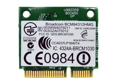 Broadcom Bcm94312hmg hp broadcom bcm94312hmg 802 11b g wireless lan wifi card 582562 002