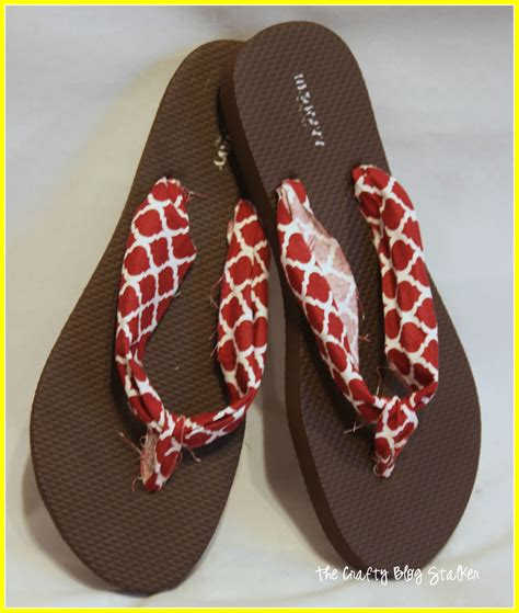 how to make fabric slippers how to make fabric flip flops the crafty stalker