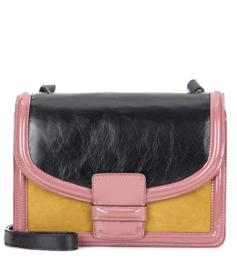Guess Who The Dries Noten Purse by Dries Noten Leather And Suede Shoulder Bag