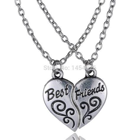 2 friendship letter necklaces necklace best