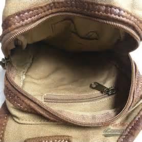 khaki retro flight bag, canvas shoulde r chest bag pack