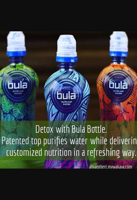 Detox While by Wakaya Bula Bottle That Filters While Offering Customized