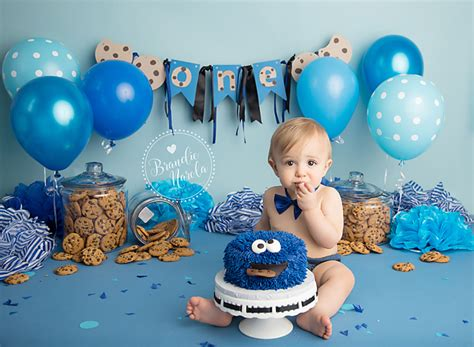 themes for baby boy birthday party cake smash cookie monster cake smash cake smash