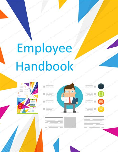 Employee Handbook Template Free Printable Sle Employee Handbook Cover Design Template