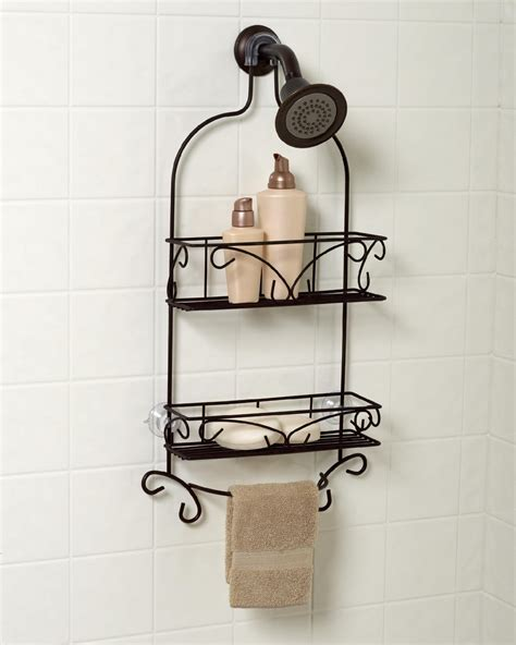 bathtub caddy oil rubbed bronze zenith products tub and shower tension pole caddy 4 shelf