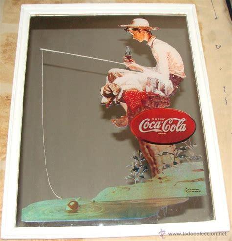 cuadro coca cola antiguo cuadro espejo de coca cola ni 241 o pescan comprar