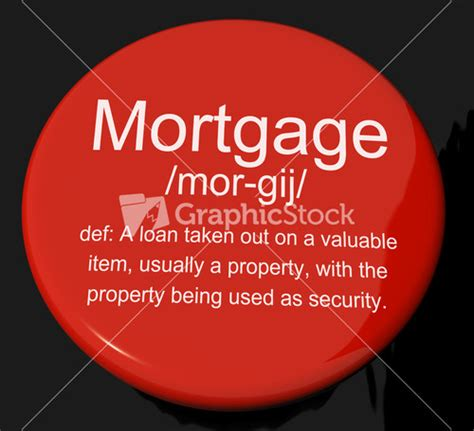 house loan definition mortgage computer key showing real estate borrowing