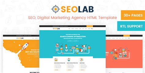 Product Promotion Website Templates Seolab Seo Digital Marketing Agency Html Template By Labartisan