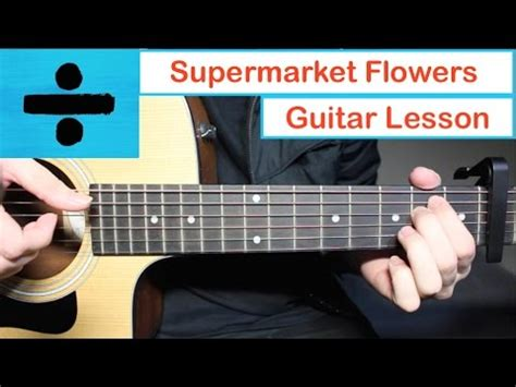 guitar tutorial videos ed sheeran supermarket flowers guitar lesson tutorial