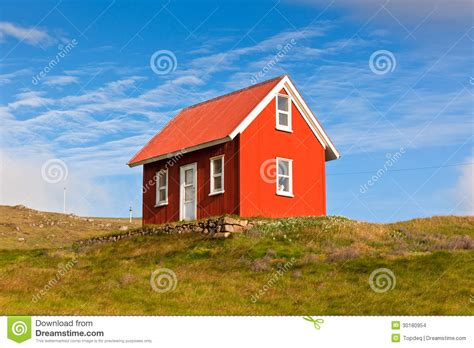 red siding house bright red siding house in iceland stock images image 30180954