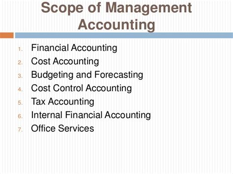 Mba In Finance Management Scope by Management Accounting