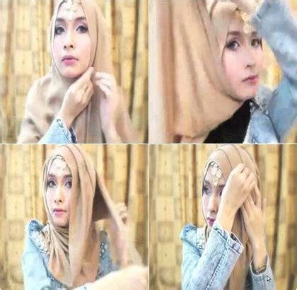 tutorial jilbab ellend tutorial hijab dengan aksesori untuk ke pesta pernikahan