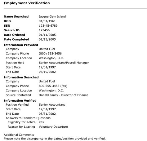 sample employment verification form 6 documents in pdf