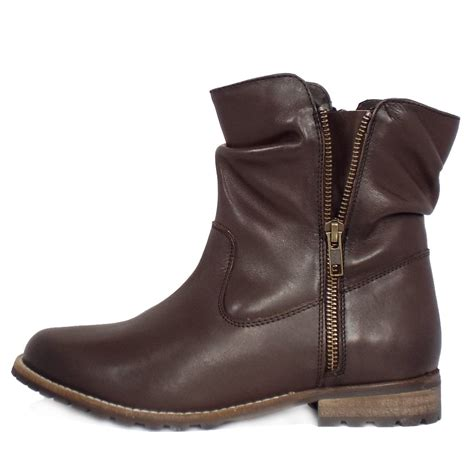 brown womans boots lotus lorie s boots in brown leather mozimo