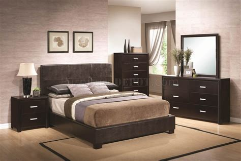 dark brown bedroom andreas 202470 bedroom in dark brown by coaster w options