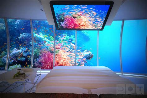 bedroom water underwater bedroom aquarium walls interior design ideas