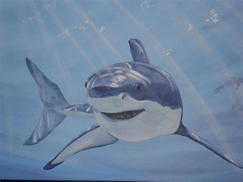 shark painting shark mural detail image scaife