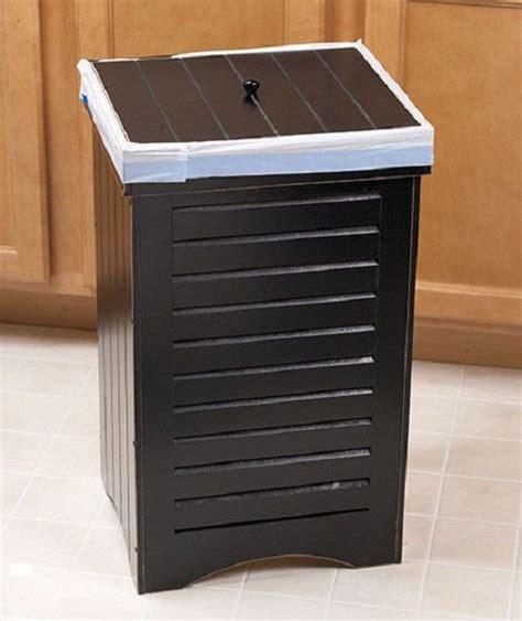 Kitchen Island With Garbage Bin New Wooden Kitchen Trash Bin Brown Holds 30 Gallon Bag