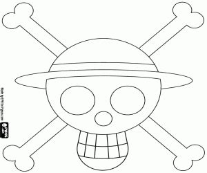 straw hat coloring page logo of straw hat pirates coloring page printable game