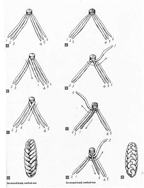 braid diagram a six strand braided challah recipe dishmaps
