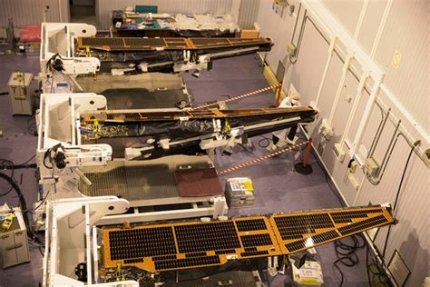Esa Background Check Getting Ready To Fix The Swarm Satellites To The Launcher Eo Launch Caigns