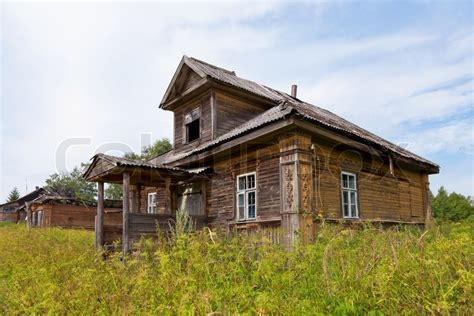 home in russian wooden house in russian novgorod region russia stock photo colourbox