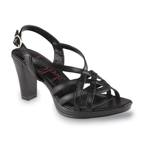 jellypop shoes jellypop s fifi black slingback sandal shoes