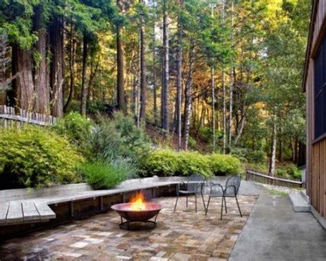 rustic backyard designs 57 cozy rustic patio designs digsdigs