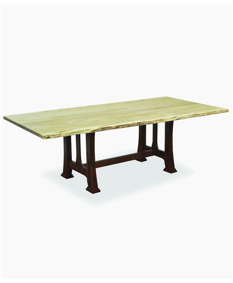 edge dining table custer dining table with live edge amish direct furniture