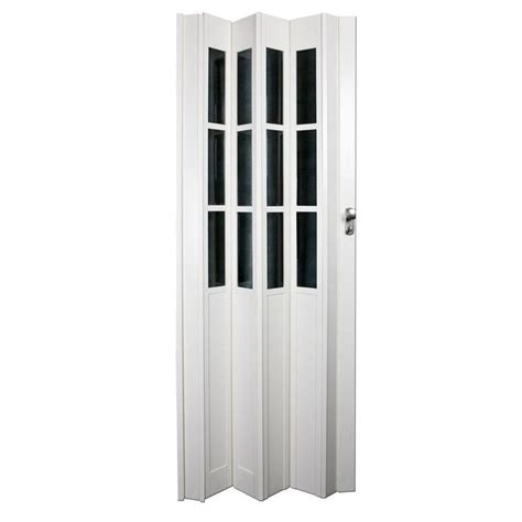 Accordian Closet Door Ltl Home Products 32 In X 80 In Devonshire Vinyl White Accordion Door Vinyls Products And Home