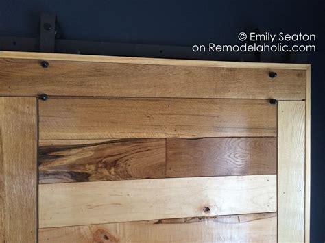 Barn Door Construction Plans Remodelaholic How To Build A Wood Chevron Barn Door