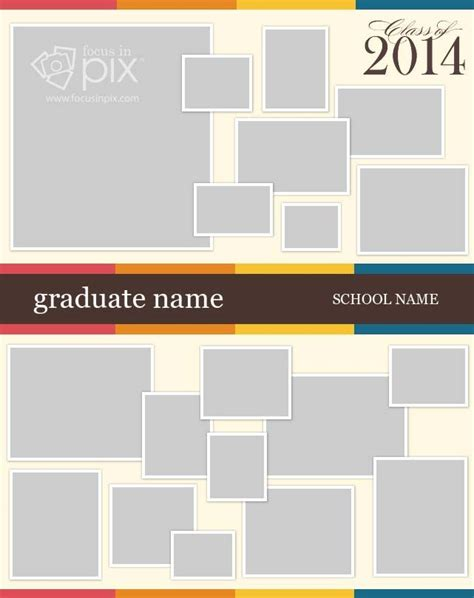 35 Best Images About High School Senior Graduation Posters On Pinterest Memory Table Color Poster Template Software