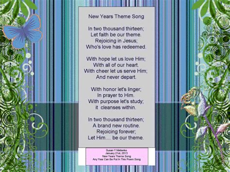 new year theme song treasure box poetry and praise