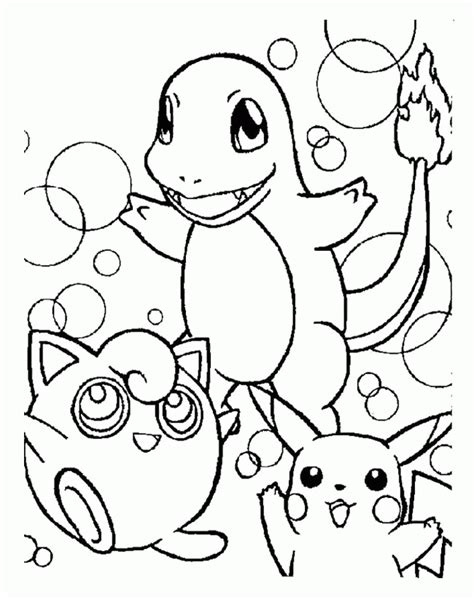 coloring pages pikachu and friends pikachu and friends coloring az coloring pages