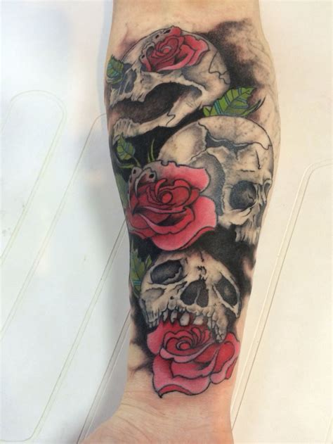 badass rose tattoos see no evil hear no evil speak no evil and skull