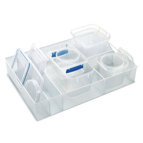 kitchen cabinet storage containers white mesh food storage organizers the container store