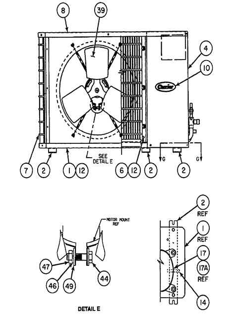 carrier air conditioner parts diagram carrier a c unit parts model 38hdc030310 sears partsdirect