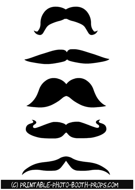 printable photo booth props black and white 45 free printable moustaches photo booth props