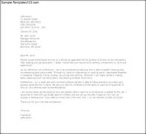 example of cleaning job cover letter template sample
