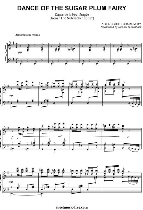 Of The Sugar Plumb by Of The Sugar Plum Sheet Tchaikovsky
