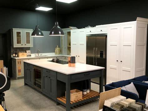 display painted  frame kitchen island silestone