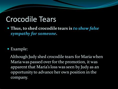 Shedding Crocodile Tears by Allusion A Day Ppt