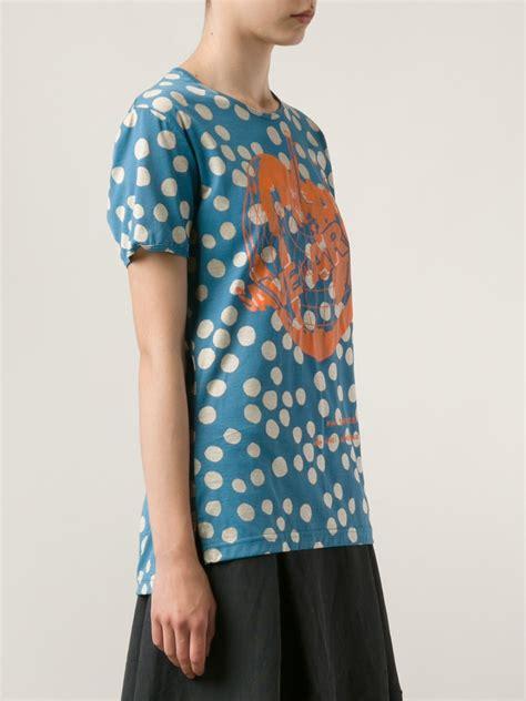 Vivienne T Shirt lyst vivienne westwood save the arctic tshirt in blue