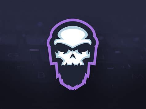 skullbeard gaming bearded skull mascot logo  mason