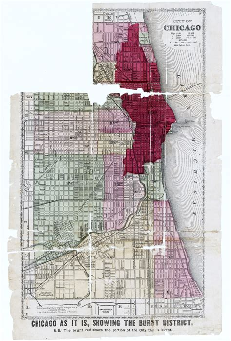 chicago 1871 map aftermath