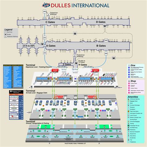 dulles airport information desk phone number airport and terminal maps metropolitan washington