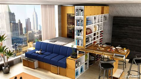 Small Studio Apartment platform bed small studio apartment ideas youtube