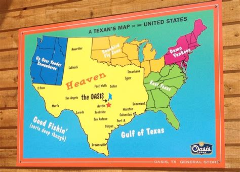 usa maps view how texans see the us map sayings or pics